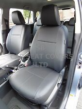 TO FIT A TOYOTA VERSO TAXI 7 SEATER, CAR SEAT COVERS, 2008, BLACK LEATHERETTE