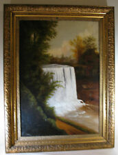 ANTIQUE AMERICAN OIL PAINTING signed T. HILL, 19th century