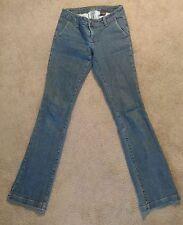 Zana Di Women's Boot Cut Jeans Medium Wash Vintage Fade Denim Juniors Size 3
