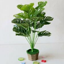 Artificial Green Lucky Turtle leaf Decorative Home Garden Outdoor Plant Tree Pot