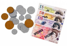 Play Money Set With Coins Children Kids Fake Notes Paper Pounds Party Bag Filler