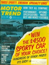 1967 Motor Trend Magazine: Drugs & Driving/Daytona 500/Specialty Cars