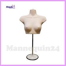 Female Torso Mannequin Stand Hanger Flesh Women Chest Dress Form