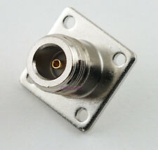 N Female Chassis Mount 4 Hole Connector - USA CoaxParts