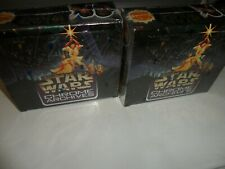 2 BOX LOT 1999 STAR WARS CHROME ARCHIVES 36 WAX PACKS TOPPS SEALED FREE SHIPPING