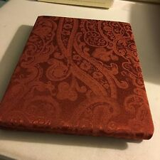 """Ralph Lauren Paisley Rust Tone on Tone damask Print Tablecloth  70"""" round  NWT"""
