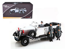 1938 Mercedes G4 White With 3 Figurines 1/18 Diecast Model Car by Signature Mode