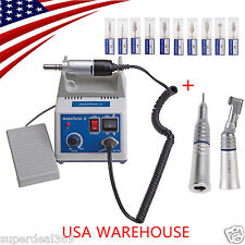 Dental Lab MARATHON 35k RPM Electric Micromotor + 2X NSK Handpiece+10*Drills USA