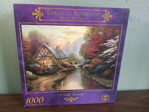 1999 Thomas Kinkade 1000 Piece Jigsaw Puzzle- A Quiet Evening