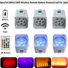 6pcs 6X6in1 Powered Led Par Light WIFI IOS Android Wireless DMX battery Light