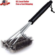 BBQ Grill Brush Barbecue Grill Grate Cleaner Stainless Steel Wire Brush Tool