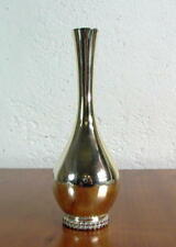 edle Silbervase mit Perlrand  - 925er  Sterling Silber