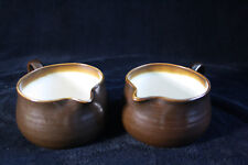 Vintage set of 2 milk/sauce jugs/pitchers Franciscan Chestnut, Made in England