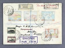 GREECE ATHENS - BRINDISI - UK 1931 REGISTERED AIRMAIL FLIGHT COVER