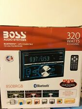 BOSS AUDIO SYSTEM 850BRGB BLUETOOTH/MP3 -COMPATIBLE CD AM/FM RECEIVER