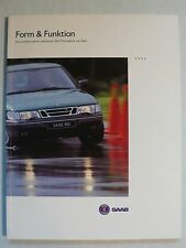 Prospekt Saab Form & Funktion 900 / 9000 - Modelle 1994, 1993, 82 Seiten