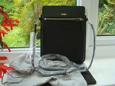 AUTHENTIC FENDI neri in pelle per iPad, Tablet, caso MANIGLIA sulla manica. Borsa A Tracolla