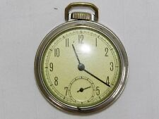 Vintage Wrangler Pocket Ben Pocket Watch Mechanical Winding Silver Dial Style 5