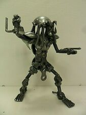 Metal Predator w/ Sword Mini Sculpture - Made From Recycled Metal -