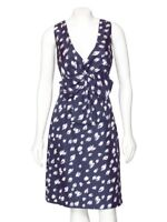 *FINAL MARKDOWN!* Kate Spade Navy Blue & White Printed Silk Sheath Dress sz 6