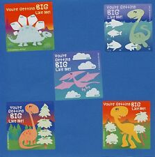 10 Dinosaur I've Grown - Height and Weight - Large Stickers - Party Favors