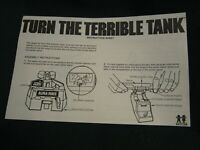 Vintage TURN THE TERRIBLE TANK ~ By Tomy ~ Original Instruction Sheet