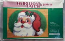 Heirloom Latch Hook Kit By Shillcraft #1499 JOLLY SANTA Rug, Wall Hanging NEW
