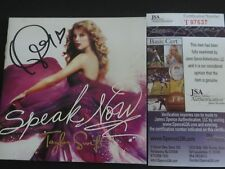 TAYLOR SWIFT SIGNED SPEAK NOW CD COVER JSA AUTHENTICATED