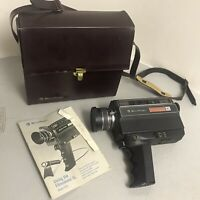 Bell And Howell Movie Camera Vintage Film Filmsonic XL 1230 With Case