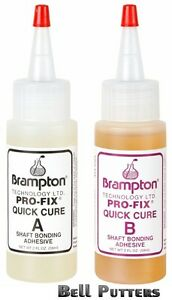 Two (2) 2 oz Bottles - 4 oz. Brampton Pro-Fix 5&15 Quick Cure Golf Shaft Epoxy
