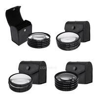52/67/72/77mm Close-up +1+2+4+10 Macro Lens Filter Kit for DSLR Digital Camera