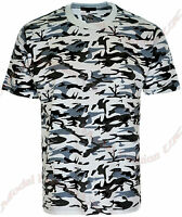 New Mens Military Camouflage Camo T Shirt Army Combat Tee Summer Beach Tops