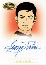Star Trek Animated Adventures George Takei as Lt. Sulu A3 Auto Card