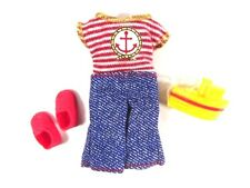 Barbie Kelly Tommy Sailor Outfit, Red Shoes & Boat!