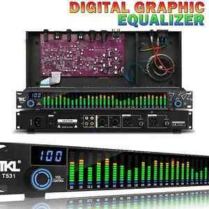 T531 Digital Grafik Equalizer Musik Audio LED-Spektrum Analysator 31-Band 300Ω
