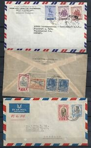 SIAM/THAILAND.   17 LETTERS FROM 1928 - 1999