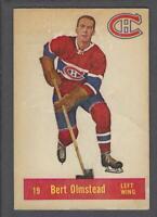1957-58 Parkhurst Montreal Canadiens Hockey Card #M19 Bert Olmstead