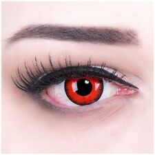 "Coloured Contact Lenses ""Red Lunatic"" Contacts Color Carnival + Free Case"