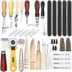 24pcs sets Professional Leather Sewing Stitching Process Kit Punch Engraving DIY