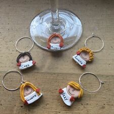 wedding favours Wine Glass Charms Name Tags Settings Bottle Personalised