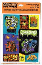 NEW pack RL Stine GOOSEBUMPS Hallmark Stickers! 3 Sheets 1995 Enter if you Dare!