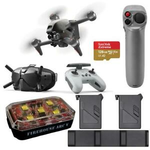 DJI FPV Drone Combo Fly More kit Motion Controller Strobe Light 128GB microSD