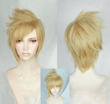 Final Fantasy XV FF15 Prompto Argentum Short Layer Blonde Cosplay Hair Wig