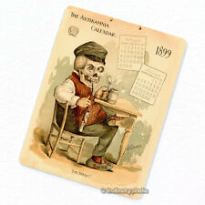 Antikamnia 1899 Calendar #3 Deco Magnet, Antique Illustration Skeleton Fridge