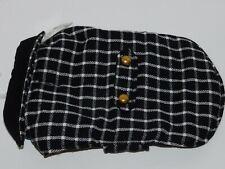 Dog Clothes Coat Black White Plaid Medium