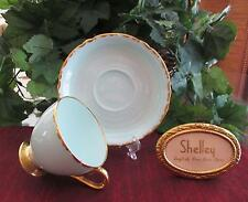 SHELLEY Fine Bone China # 13487  SOLID MINT COLOR -  RIPON Shape