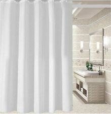 Crisp white fabric shower curtain 2m*2.4m new free shipping