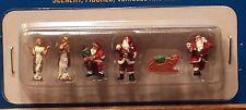 HO Walthers 949-6031 Christmas Figures Santas, Sleigh w/ Presents, Angels