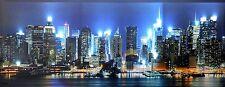 Led Bild New York 100x40cm sehr groß 16 Leuchten Canvas XL Wanddeko Leuchtbild