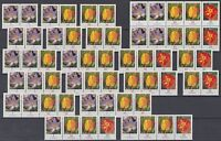 BRD/Bund alle 18 ZD und Kleinbogen Blumen aus 2007 postfrisch (ZD 33)
